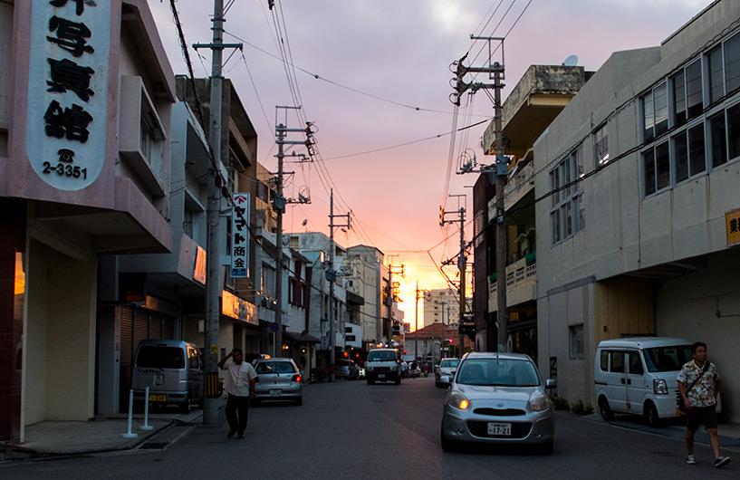 Quartier Misaki-cho le soir, Ishigaki