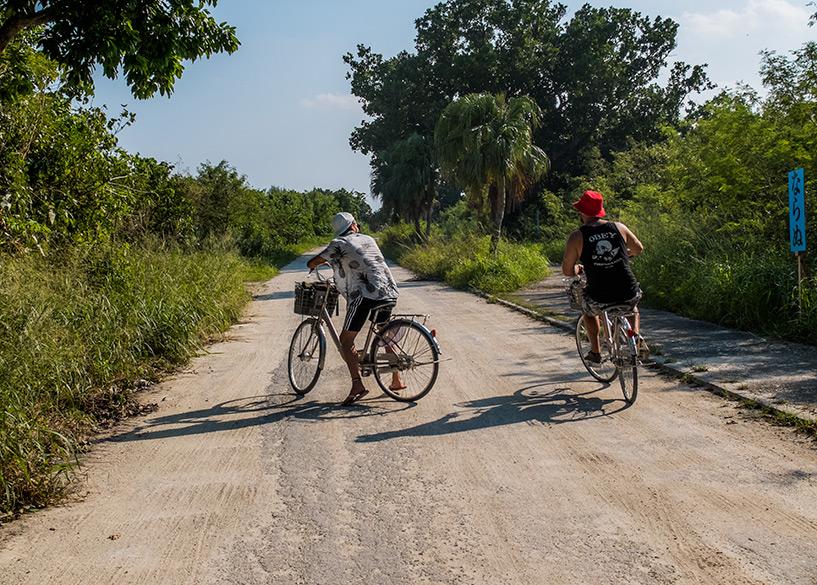à vélo sur les routes de Taketomi-jima, Okinawa