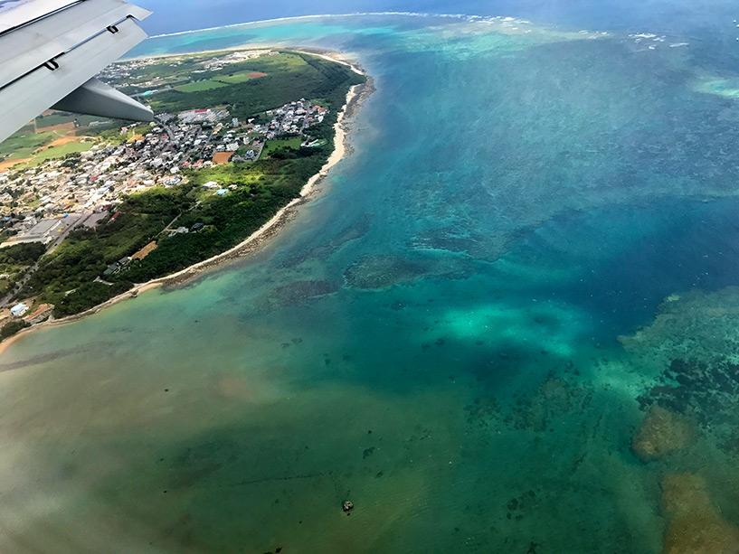 l'île d'Ishigaki (îles Yaeyama, Okinawa) vue du ciel