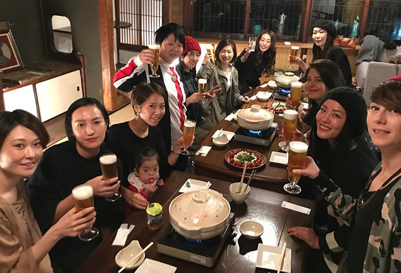 repas entres filles, Japon