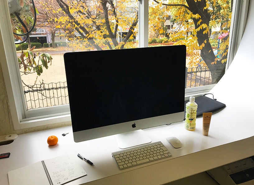 graphiste au Japon, espace de travail
