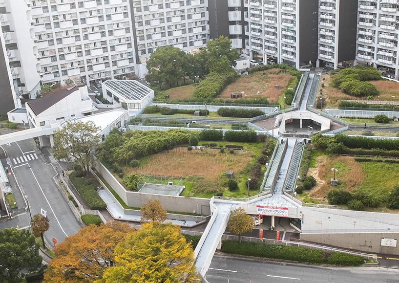 Vue aérienne du centre commercial de Motomachi