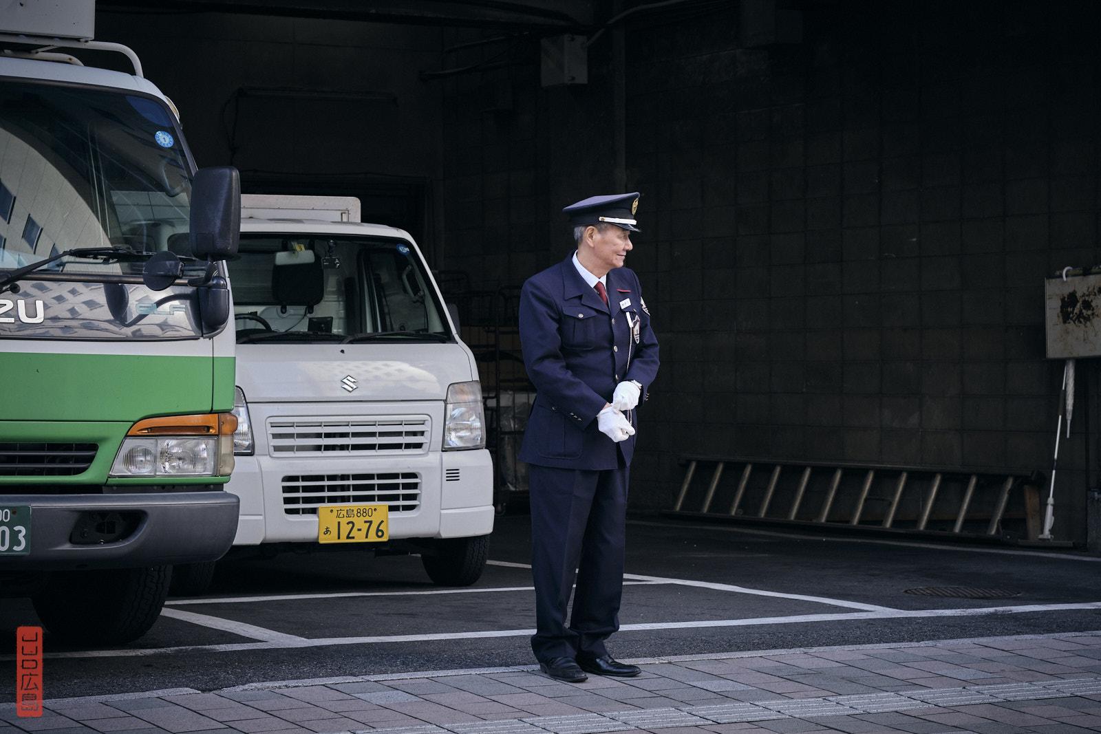 Le gardien du parking de Mitsukoshi, Hiroshima