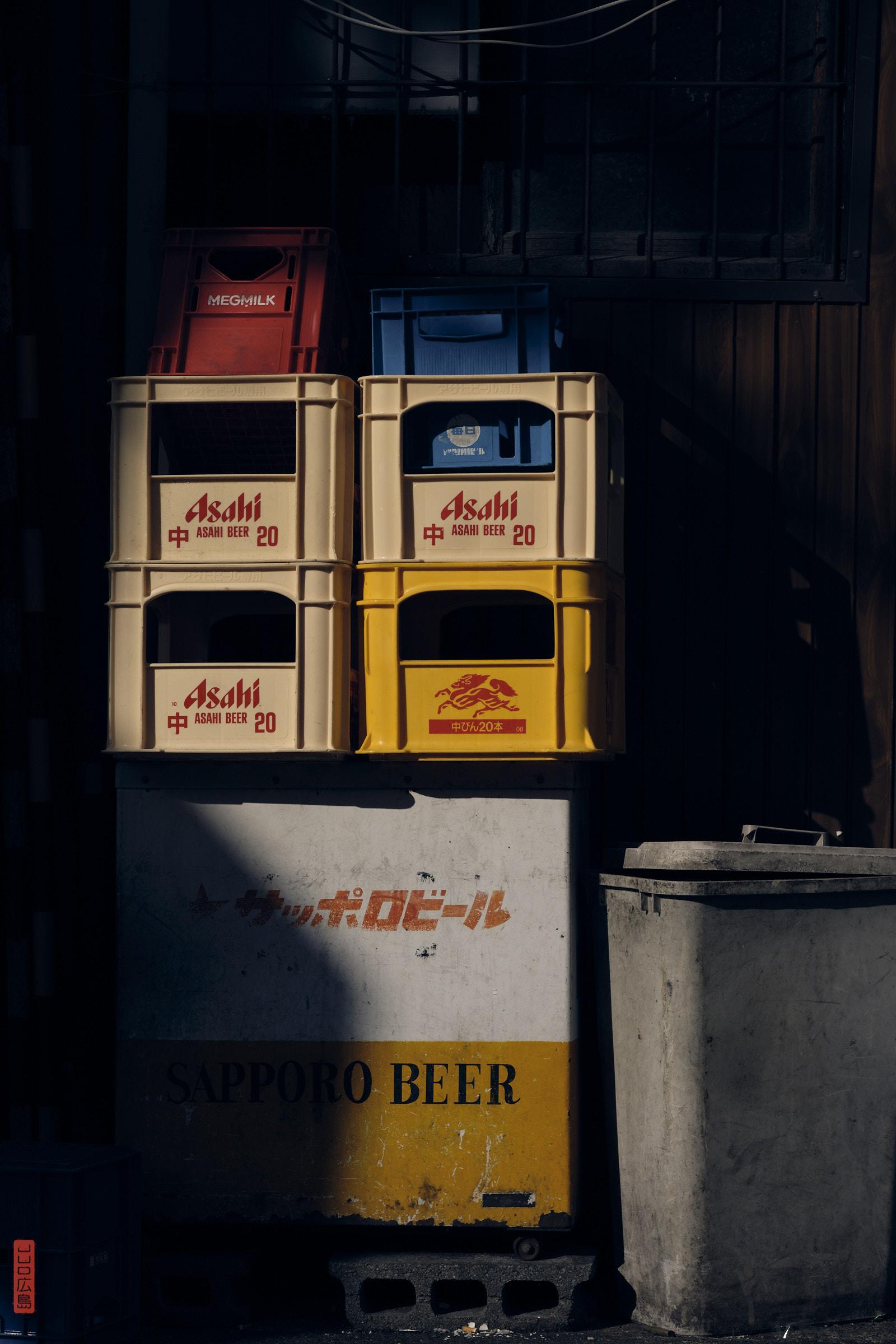 cagettes de bière Asahi