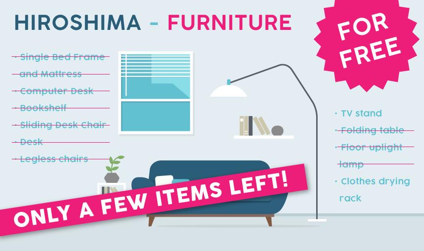 Hiroshima furniture for free
