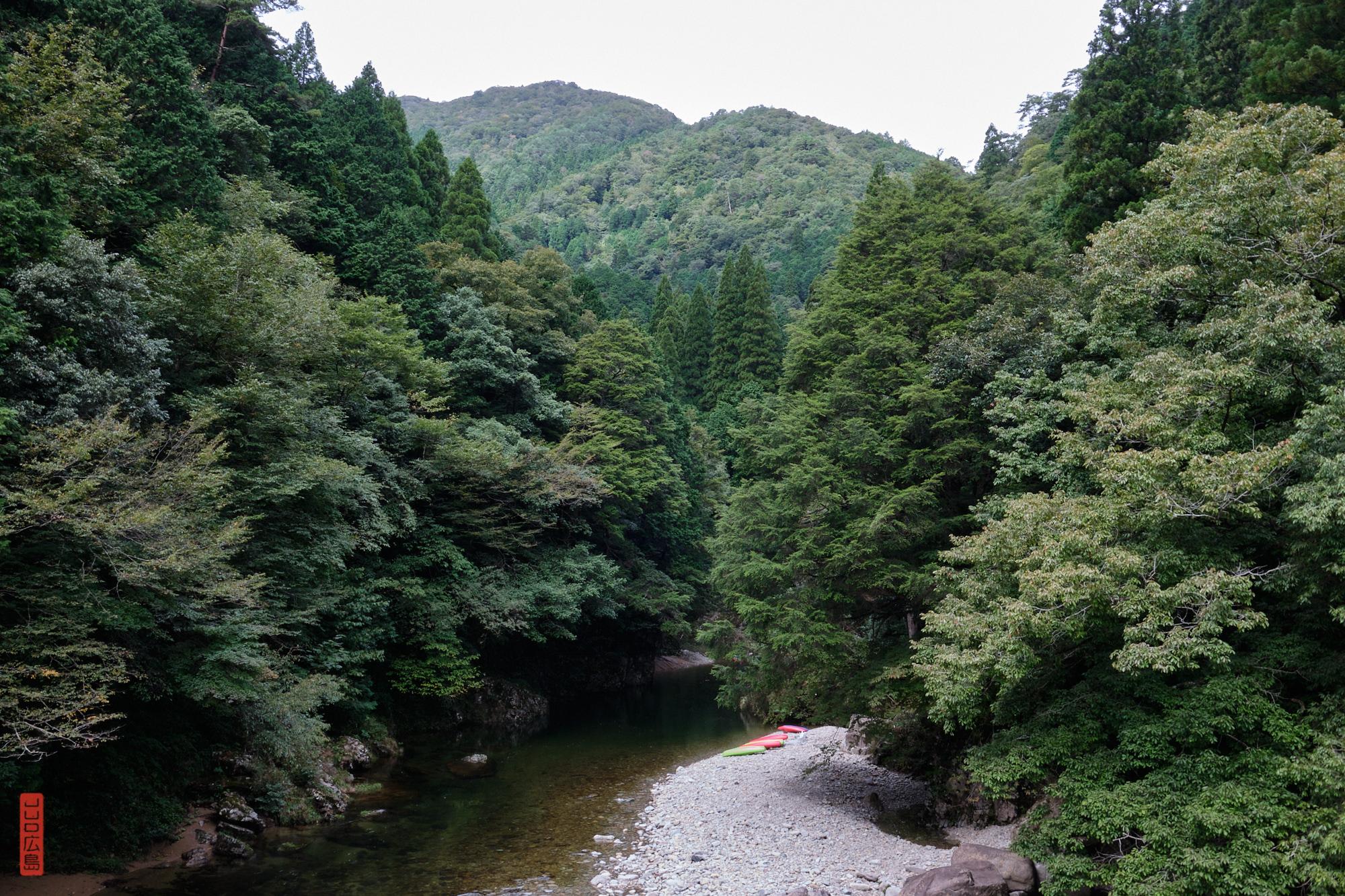Sandankyo, vue du pont Nagabuchi