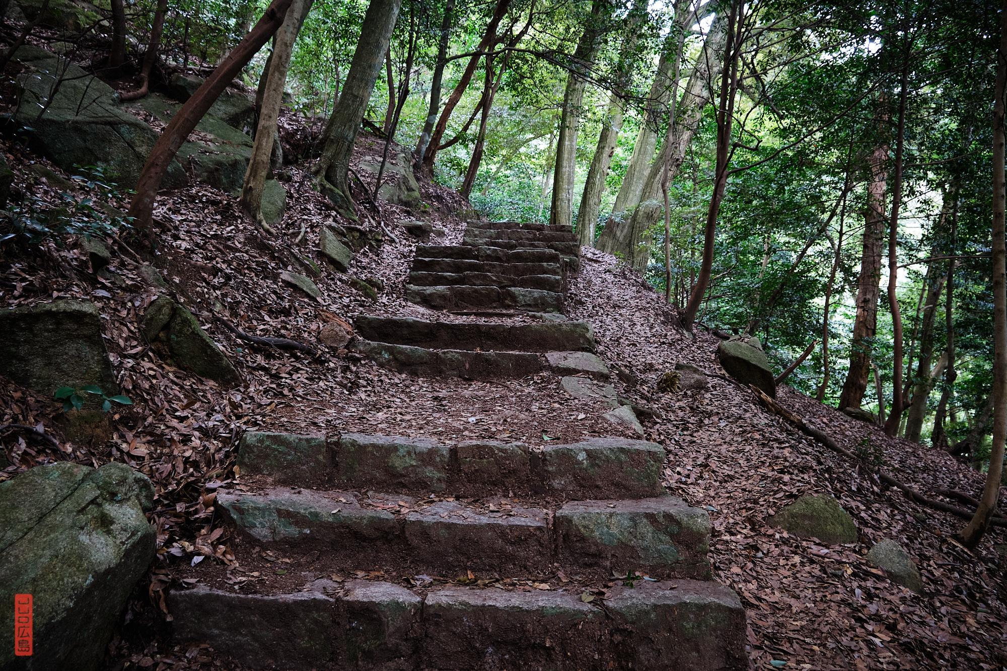 marches de pierre, chemin Omoto, Mont Misen
