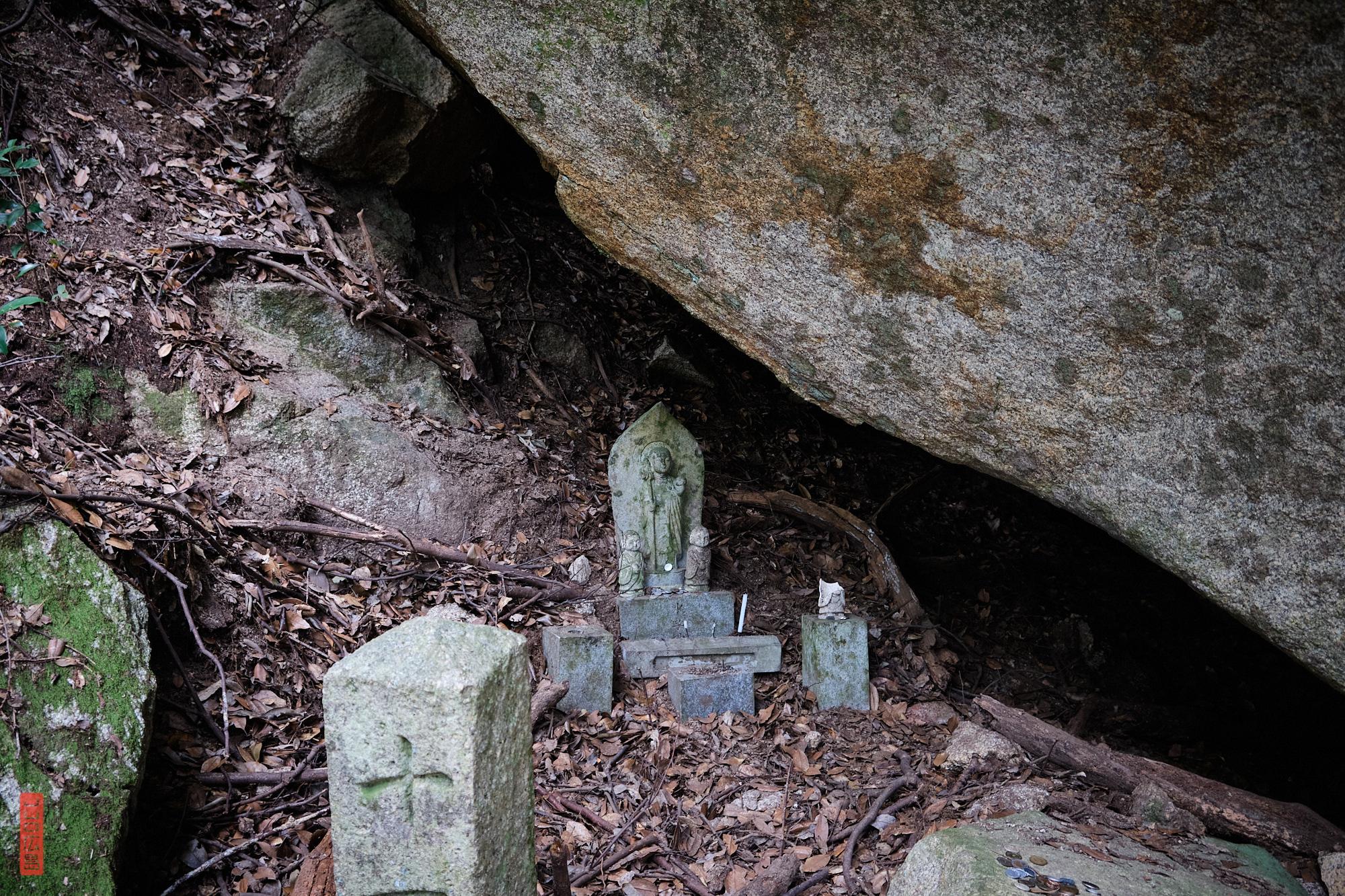 Statuettes Mizuko Jizo, chemin Omoto, Mont Misen