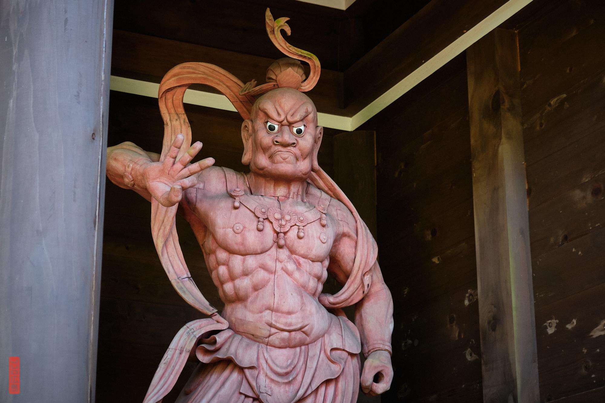 Roi Niō, gardien de la porte Niōmon, mont Misen