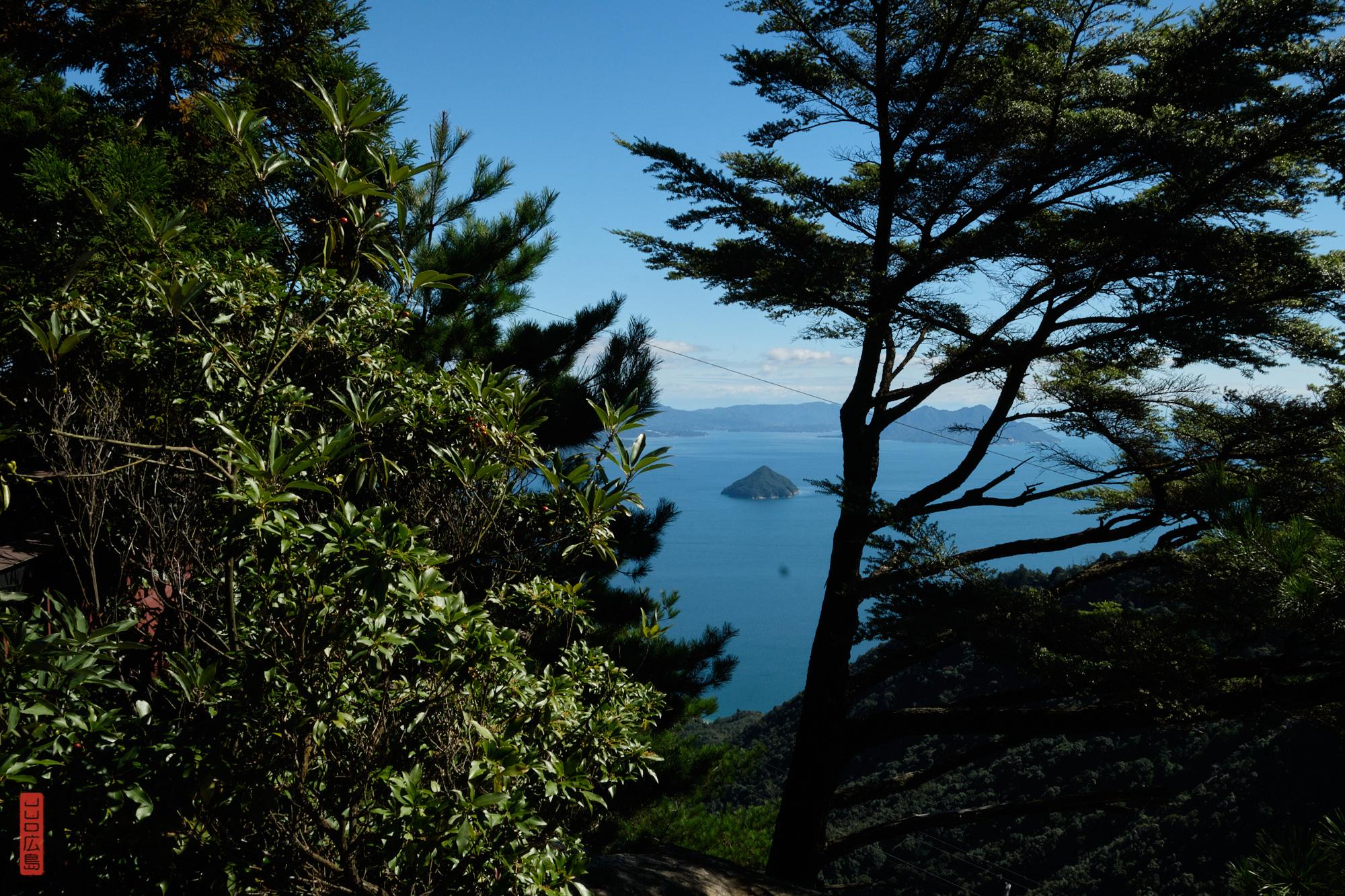 Vue sur la mer depuis le sanctuaire Miyama, Mont Misen