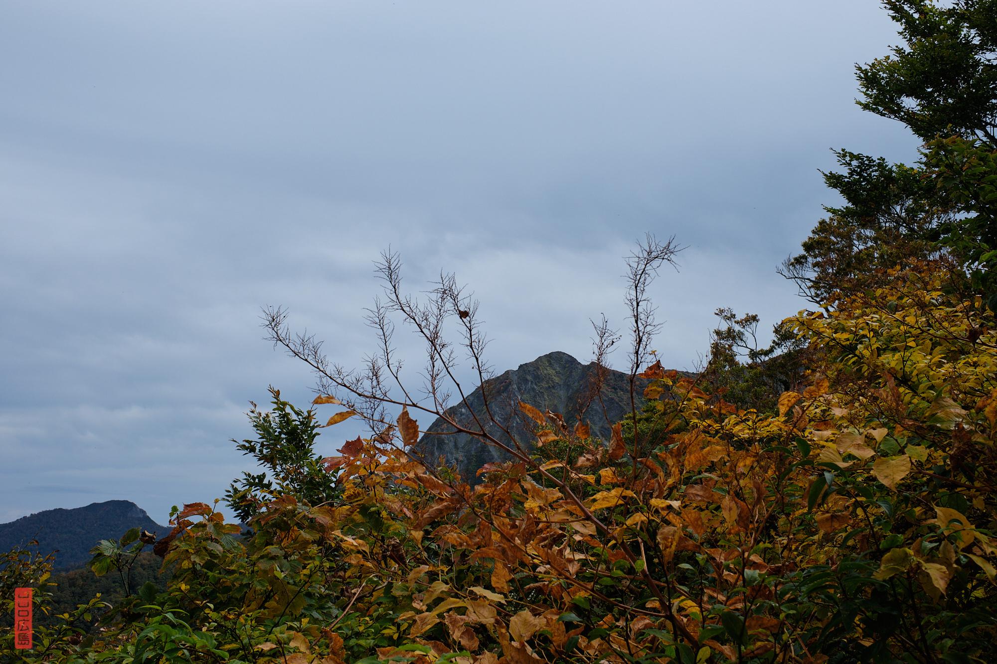 Vue sur le sommet du Mont Daisen