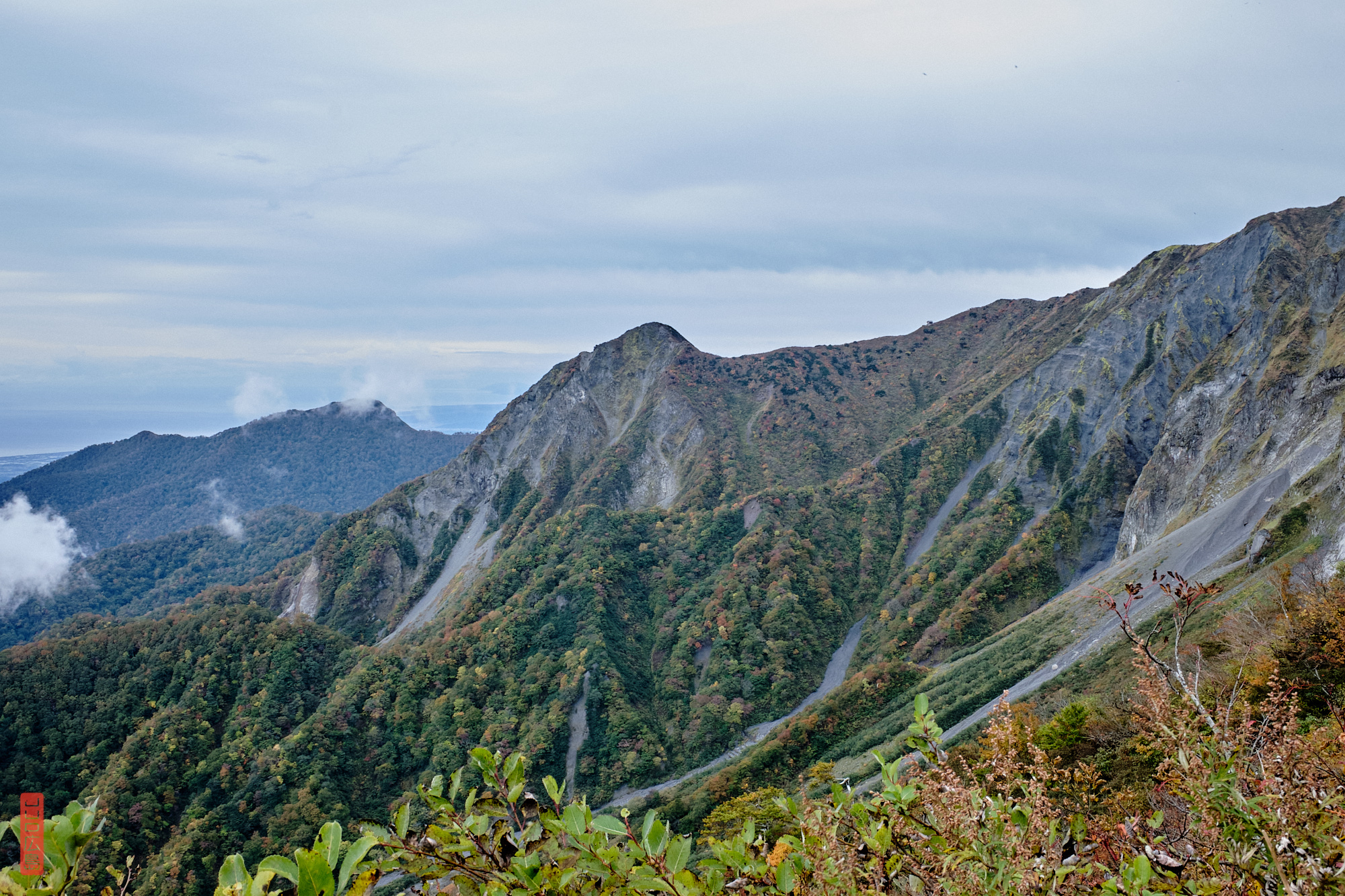 vue sur les sommet du mont Daisen