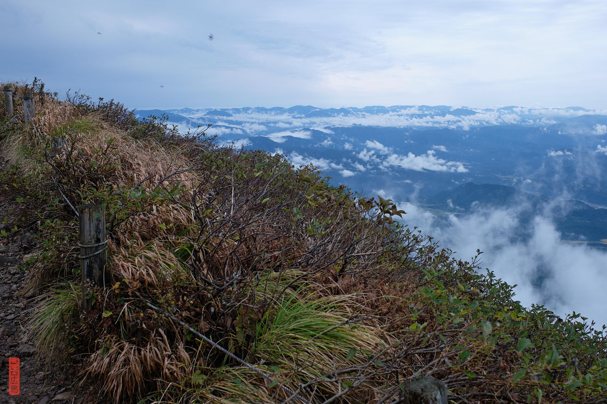 sommet du mont Daisen, au-dessus des nuages