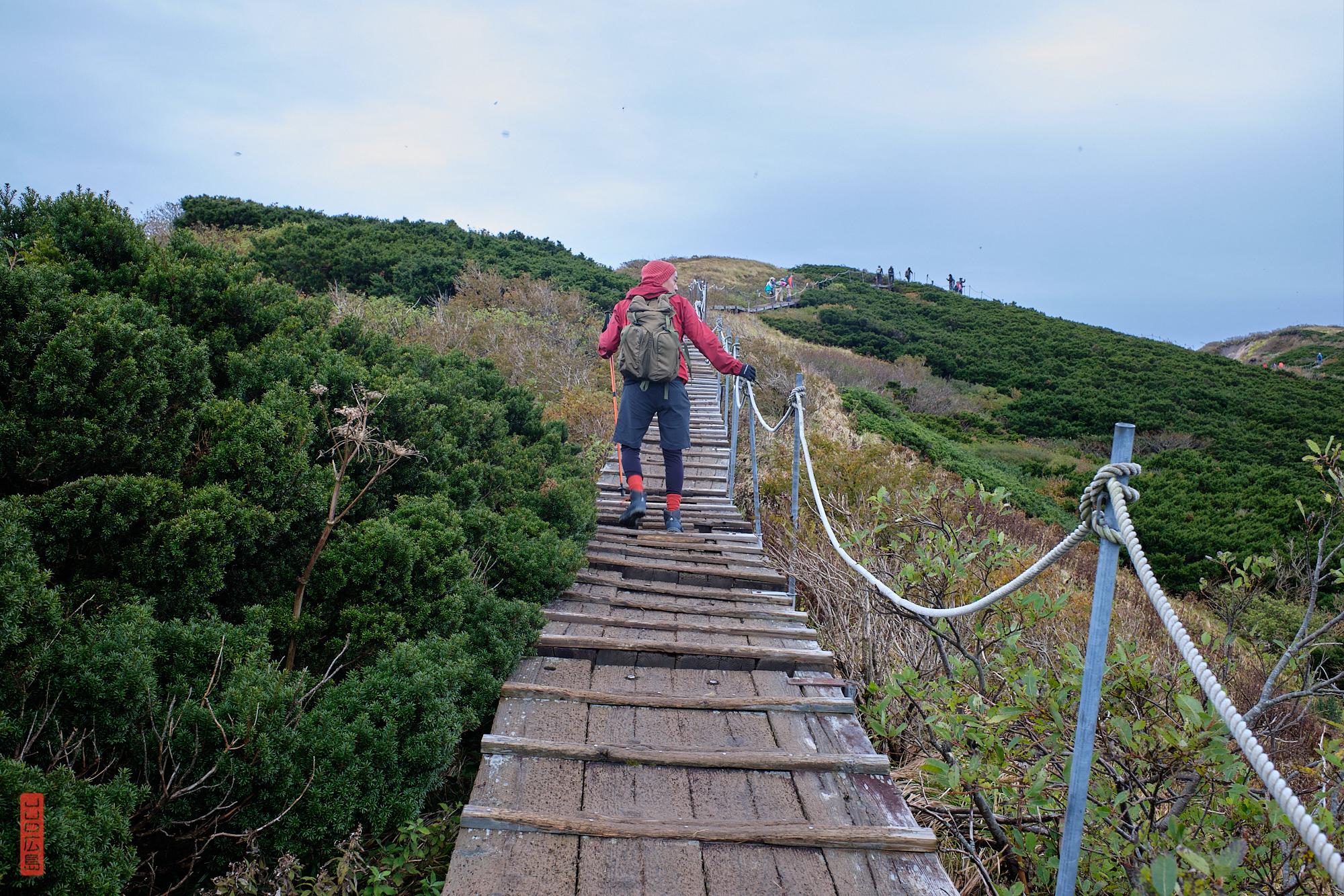 sommet du mont Daisen, Japon