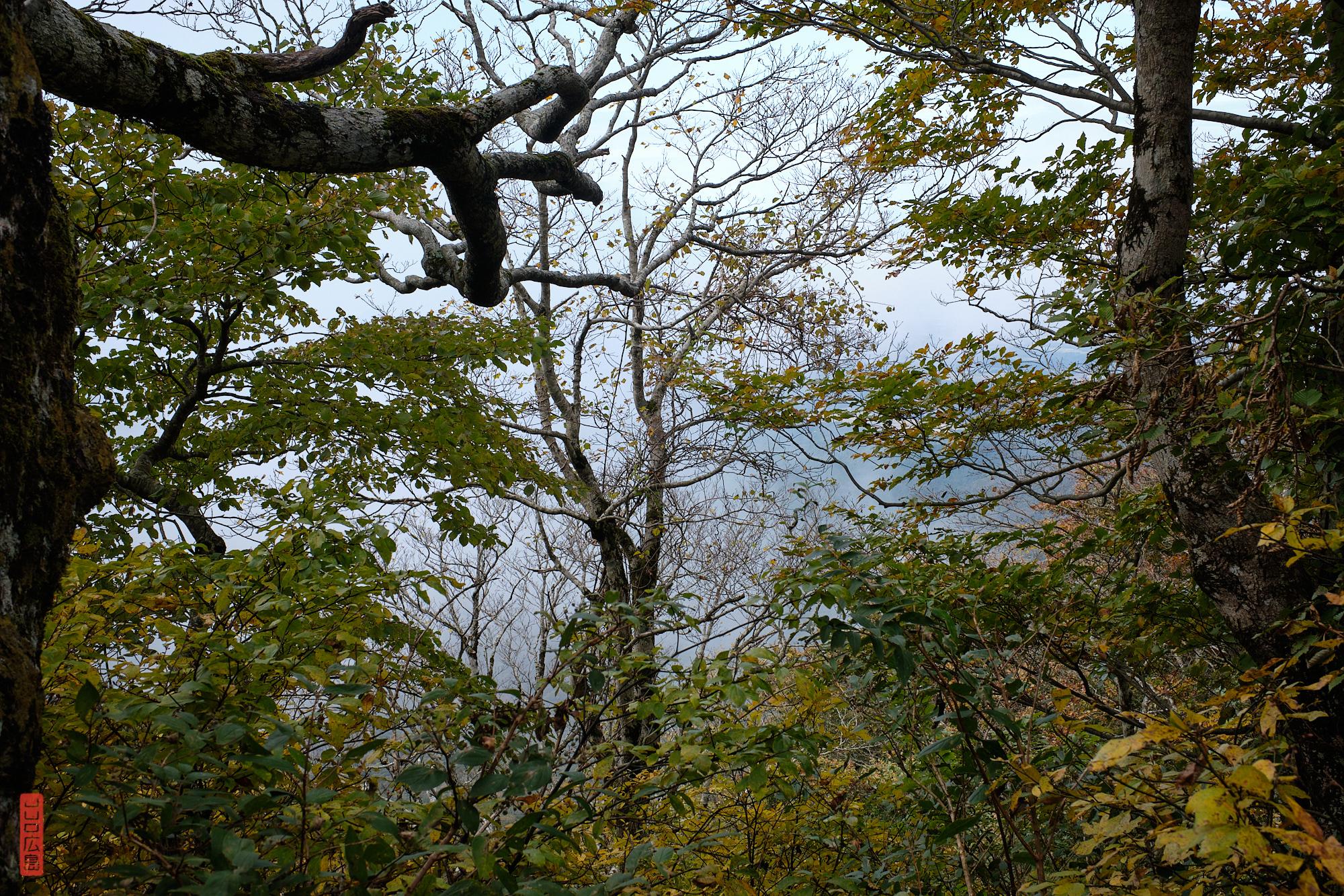 descente du mont Daisen