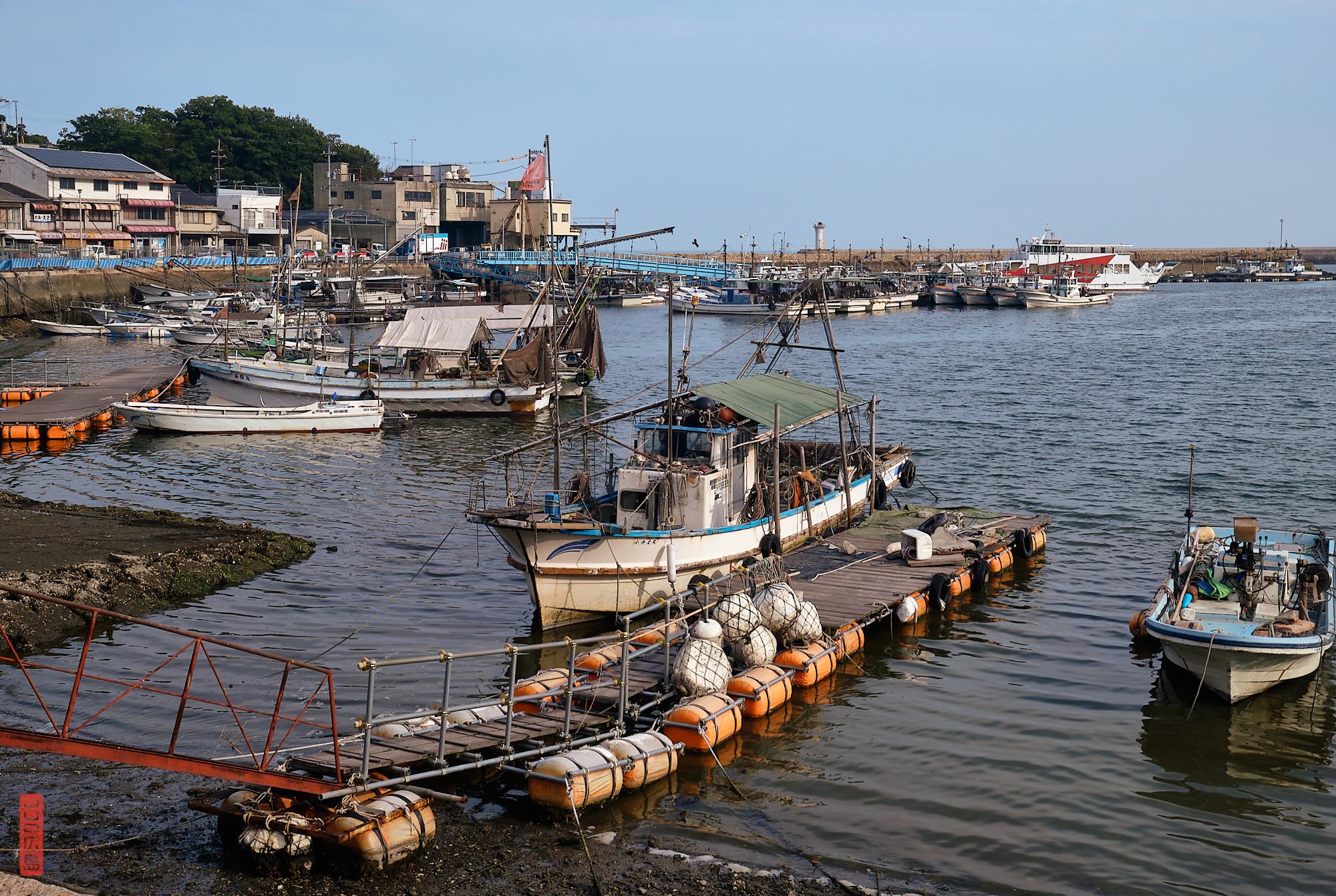 le port de Tomo-no-Ura, préfecture d'Hiroshima