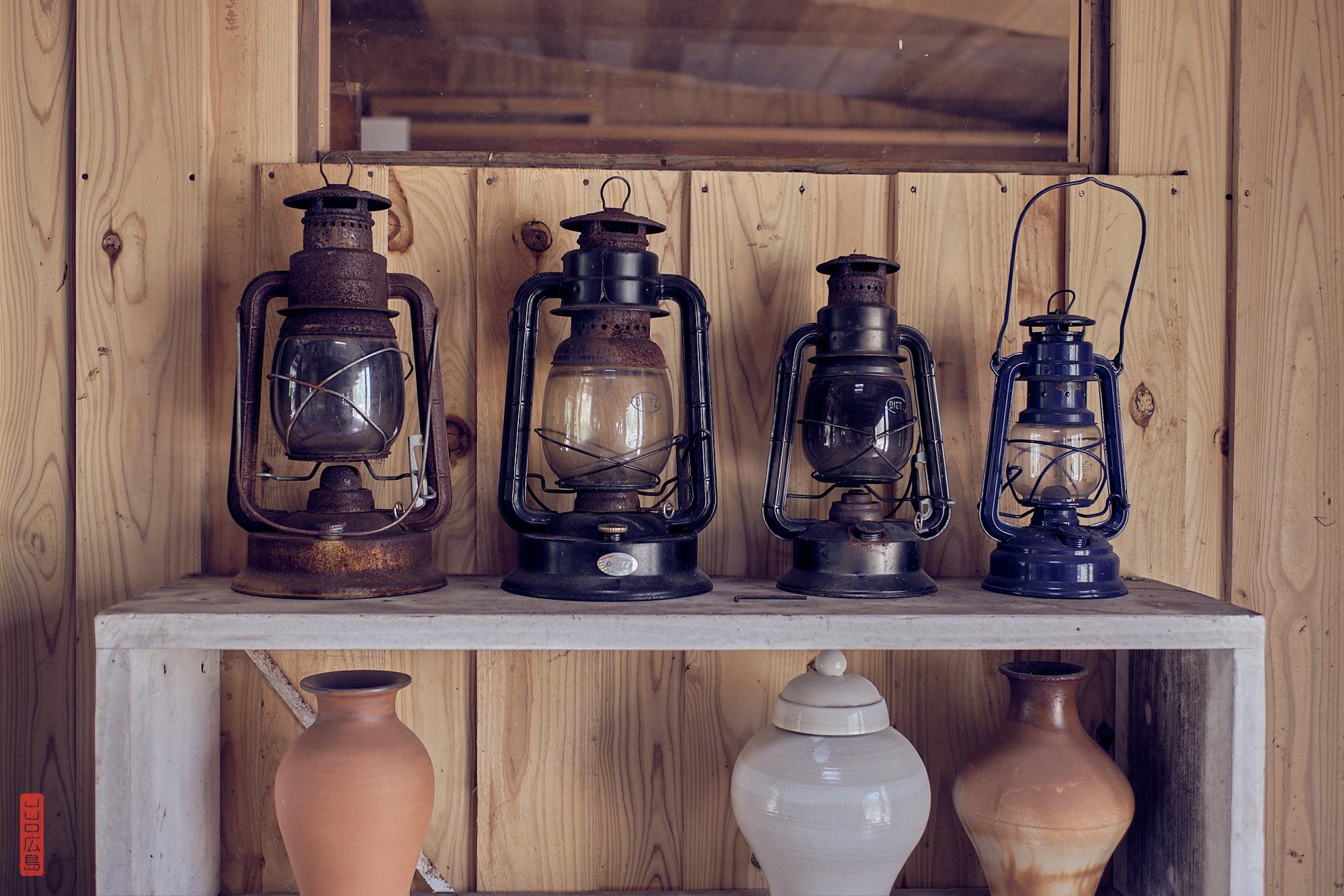 lampes à huile vintage