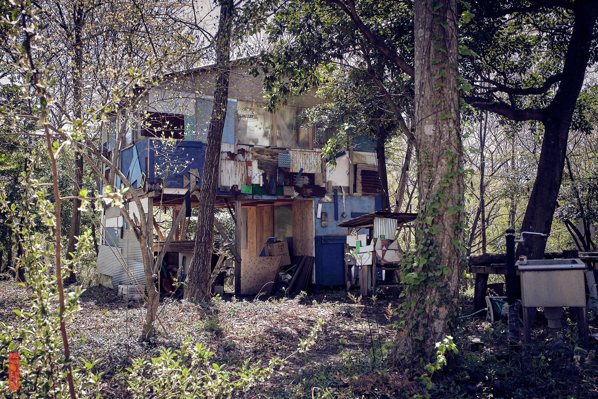 des cabanes dans la forêt