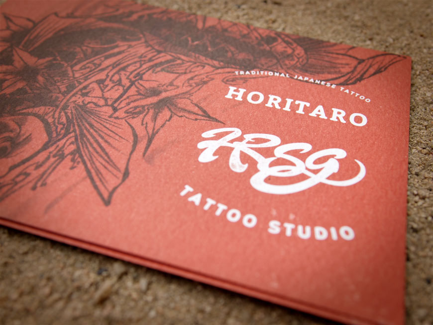 Studio de tatouage traditionnel japonais Horitaro, shop card