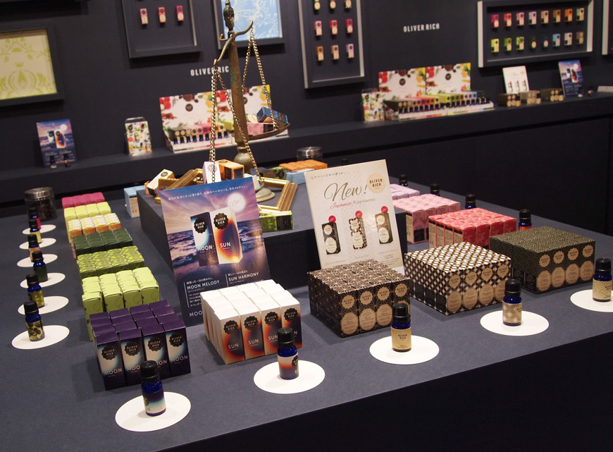 Stand Oliver Rich à l'exposition Tokyo Gift Show