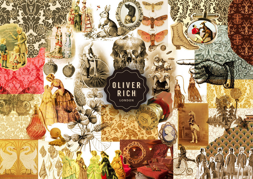 Oliver Rich branding moodboard