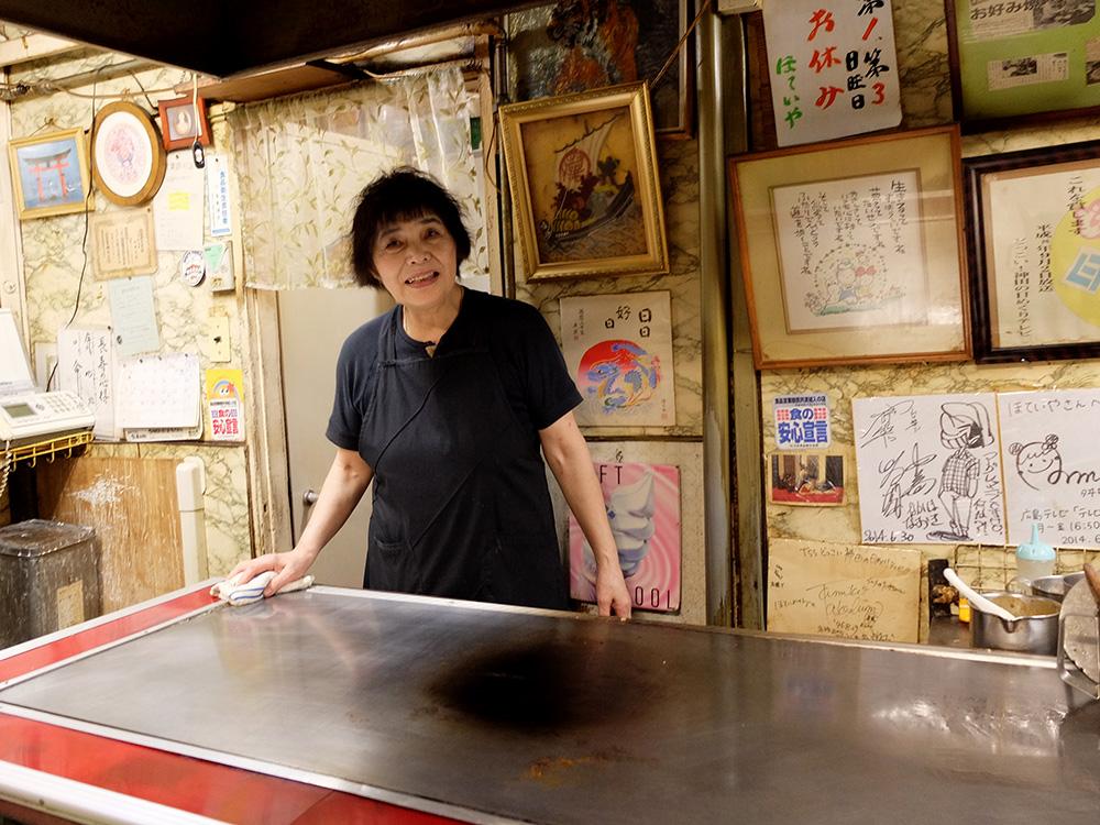 mama de l'okonomiyaki chiromancienne