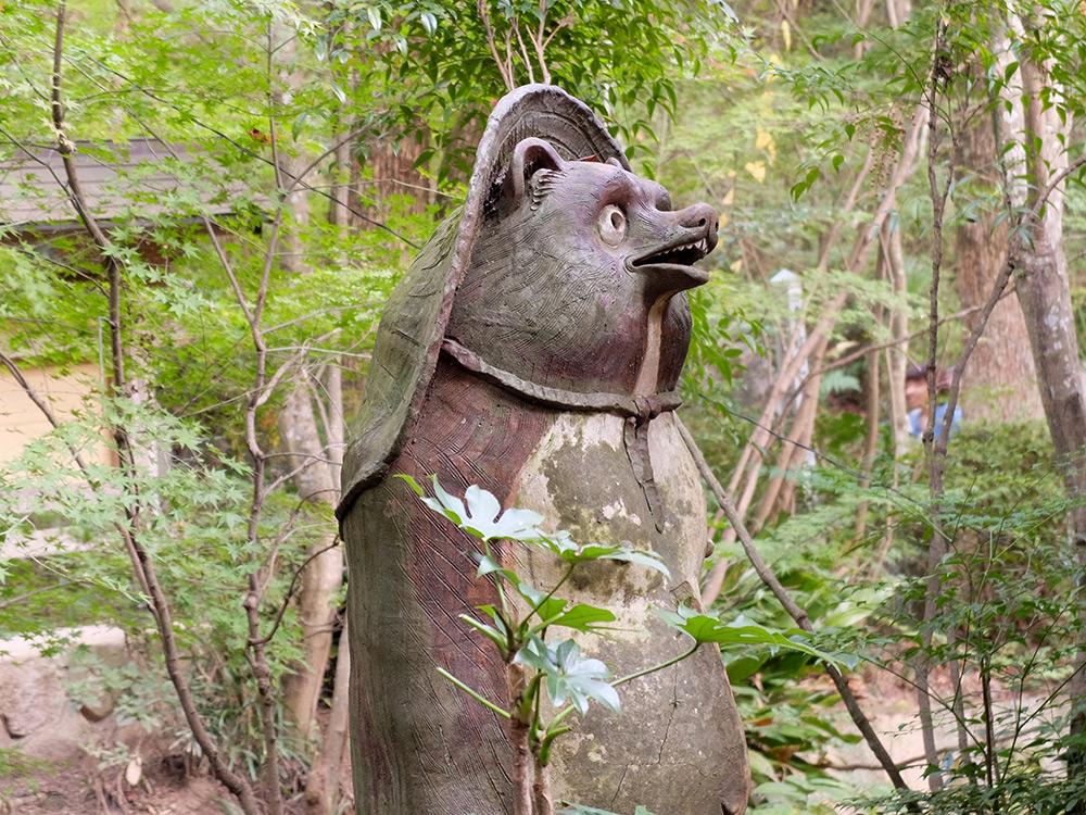 Statue de Tanuki à Mitaki