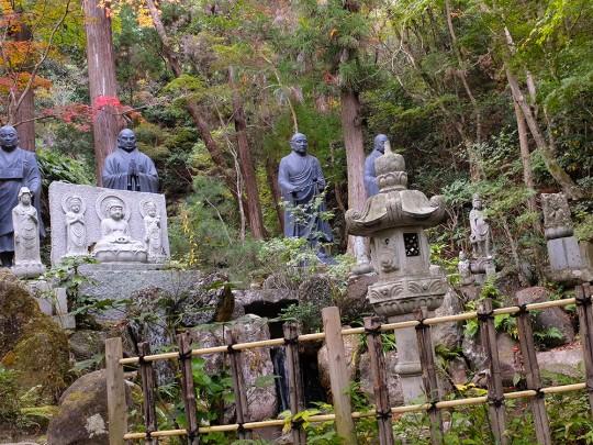 Statues des moines fondateurs de la secte bouddhiste Shingon