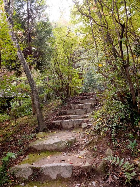 Escaliers de pierre à Mitaki
