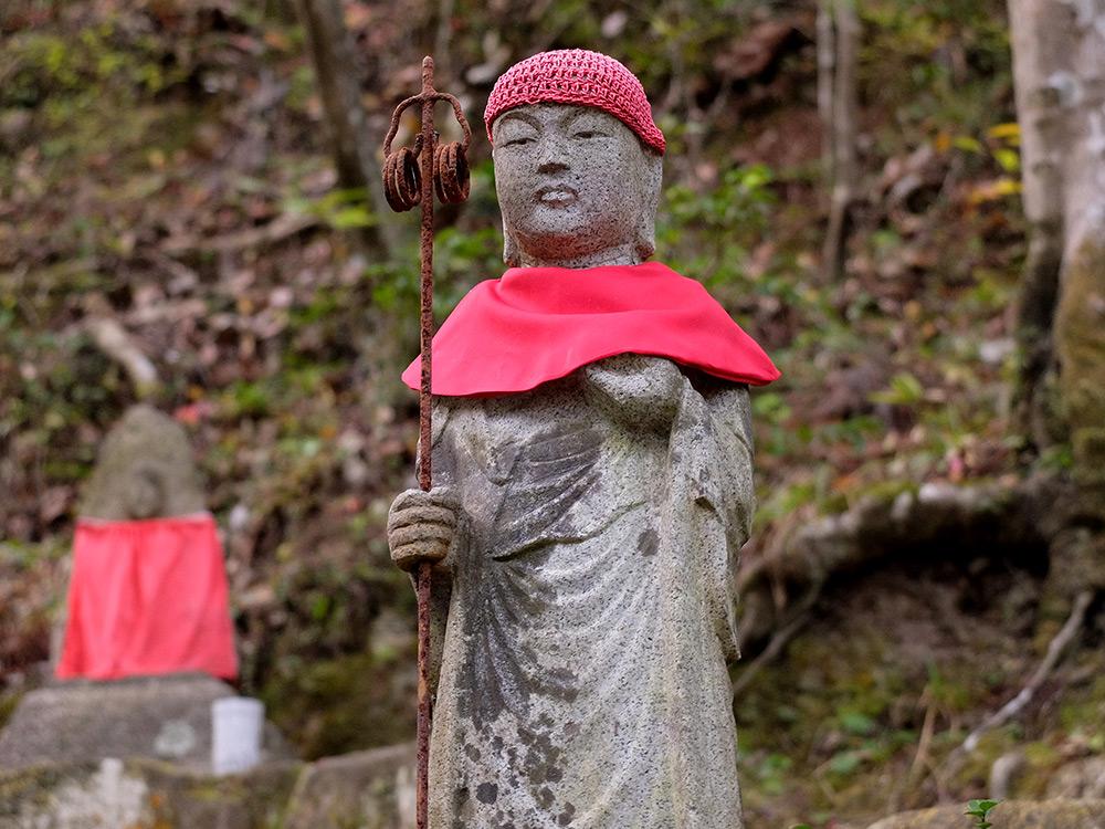 Statuette Jizo à Mitaki