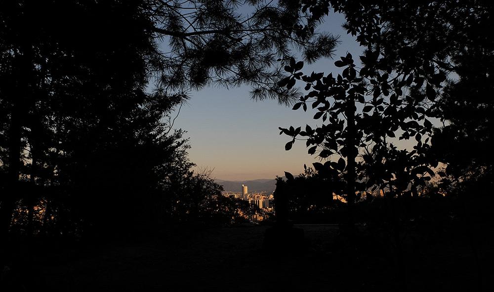 vue du sommet de Mitaki-yama