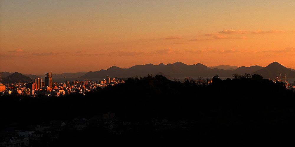 vue sur Hiroshima depuis Mitaki