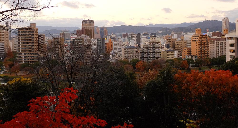vue sur Hiroshima depuis la colline d'Hijiyama