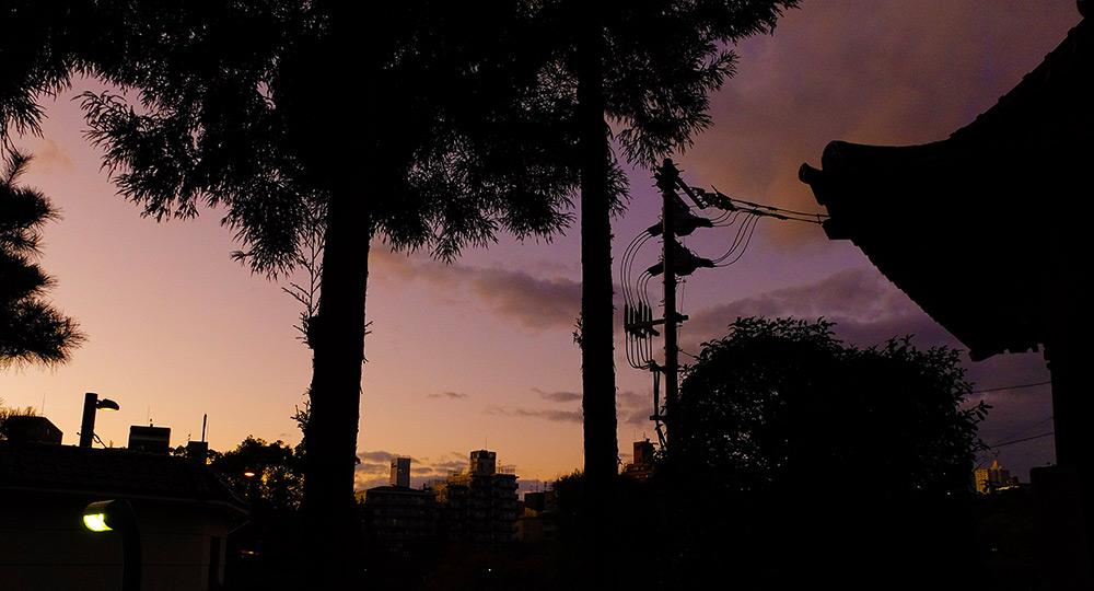 Vue depuis le temple shingon 多聞院 Tamon-in