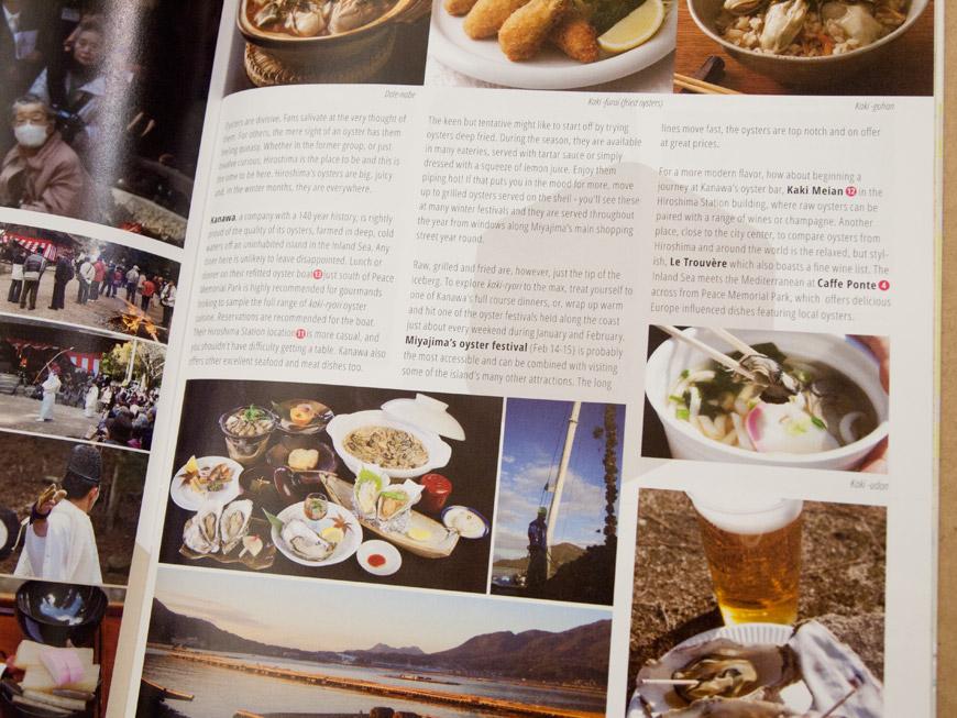 GetHiroshima Hiver 2014, article sur les huîtres d'Hiroshima