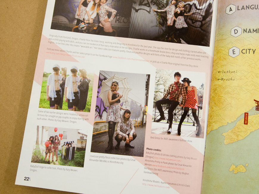 GetHiroshima Hiver 2014, article mode sur la styliste Charlie Rose