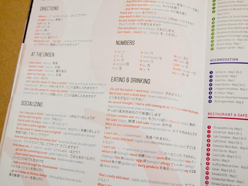GetHiroshima Hiver 2014, rubrique langue