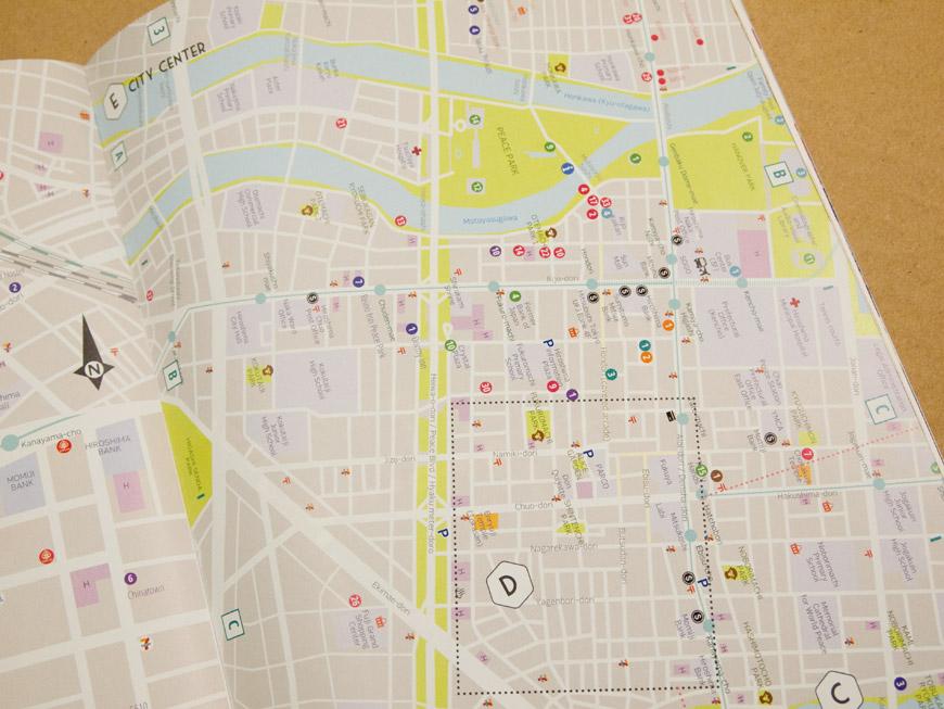 GetHiroshima Hiver 2014, cartes d'Hiroshima