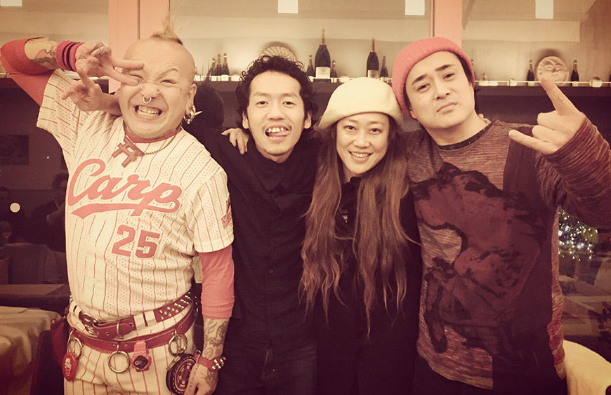 Bonenkai GetHiroshima avec nos 4 cover pin-ups de l'année 2014 : Potty, Ippei, Shiho et Bom