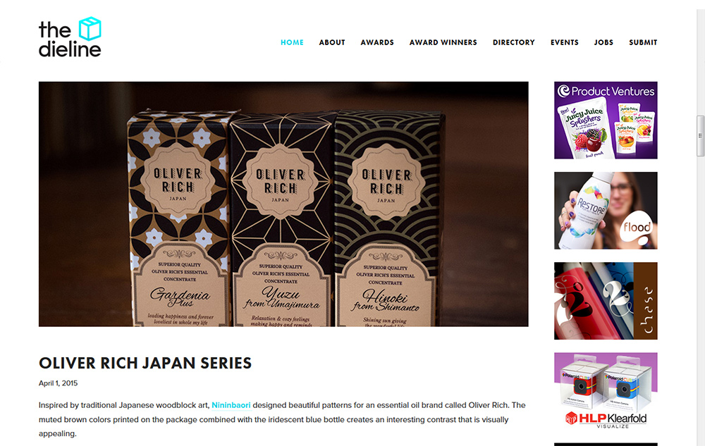 Packaging Oliver RIch par Nininbaori dans The Dieline