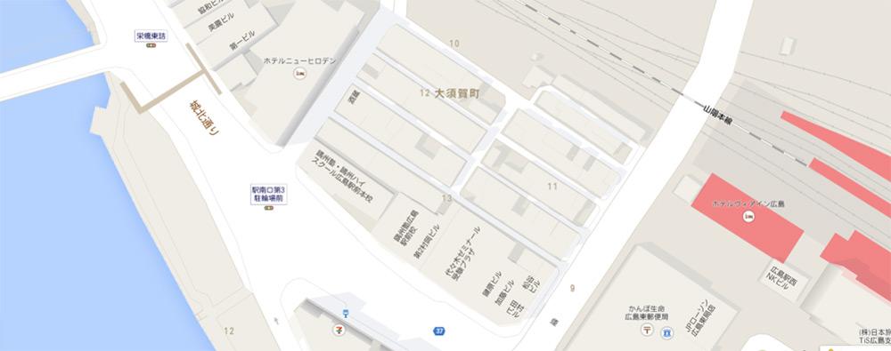 Carte d'Osuga - Hiroshima