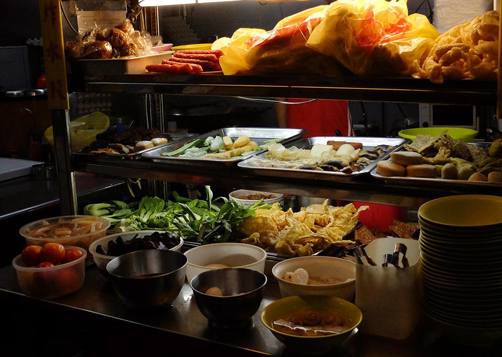 Stand de nourriture Geylang Singapour