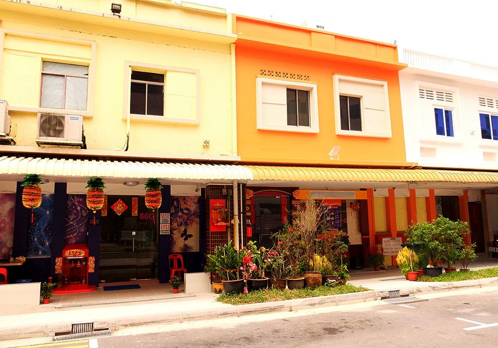 Maisons colorées Geylang Singapour