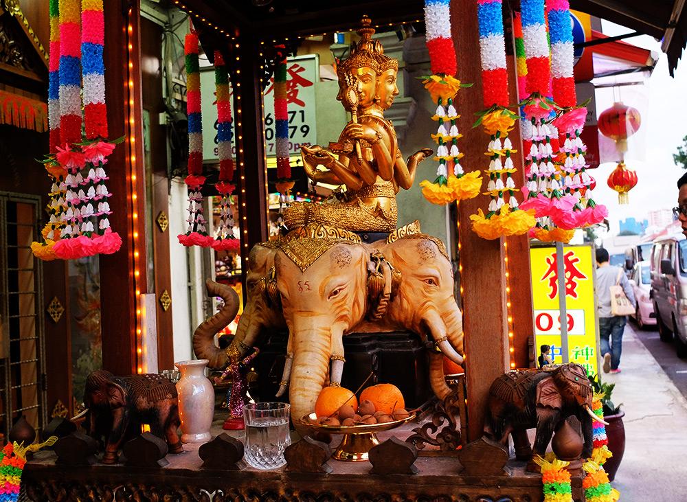 Geylang Singapour autel hindou