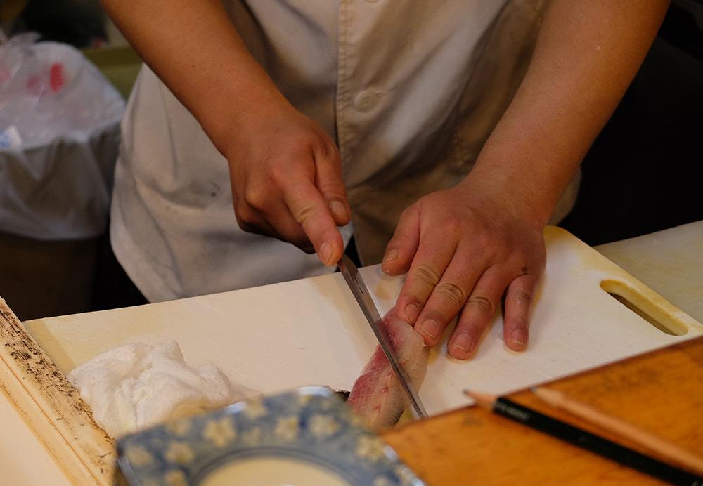 découpe de sushi