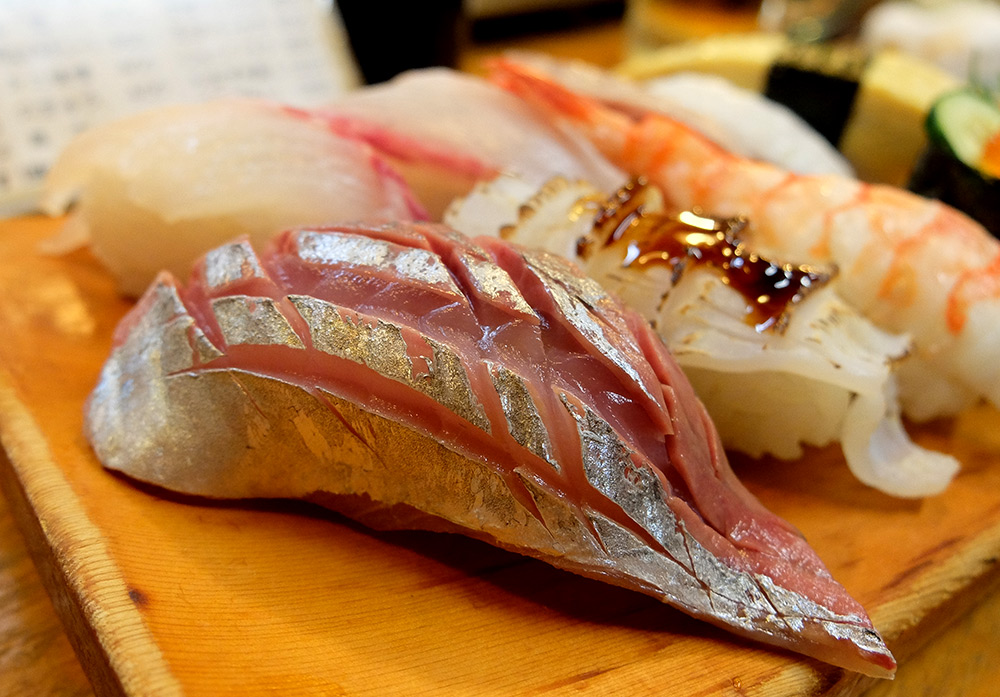 sushis à Ganko Yatai