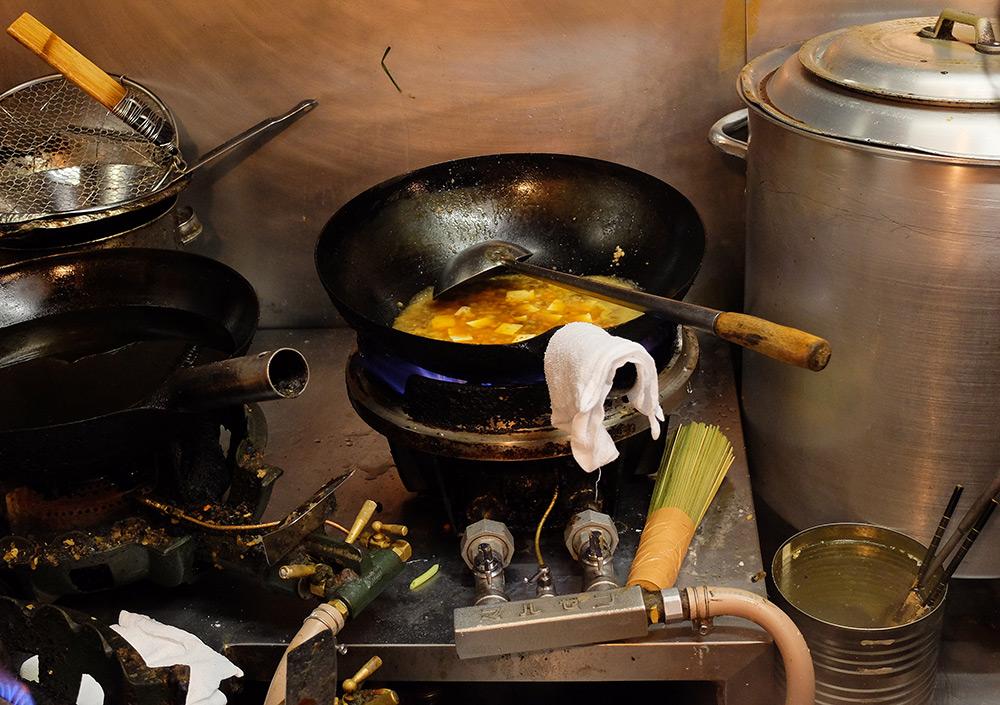 mabo-dofu dans le wok
