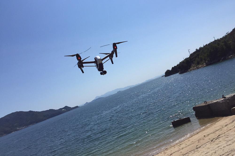 Nakano beach Etajima drone