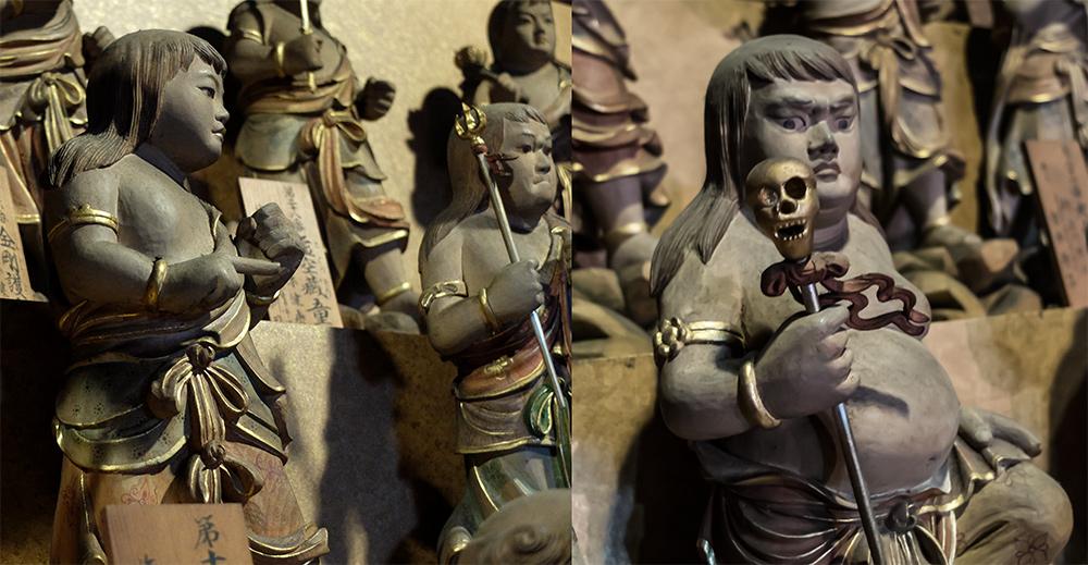 statuettes dans le Chokugan-do, Daishoi-in, Miyajima