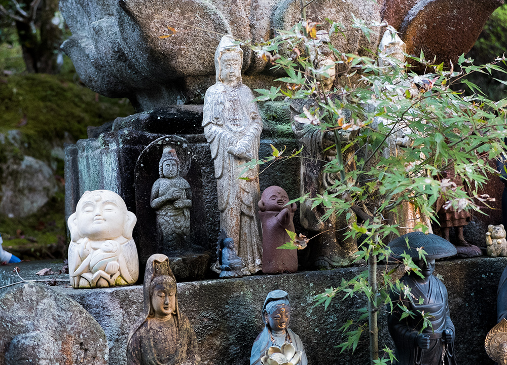 statuettes temple Daisho-in, Miyajima